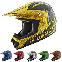 Speed and Strength SS2400 Lunatic Fringe Mens Off Road Dirt Motocross Helmets