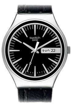 Swatch Irony Big Charcoal Suit Watch YGS744