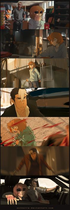 Voltron X Logan by SolKorra - Shiro & Pidge Tag yourself I'm Shiro's sideburns Form Voltron, Voltron Ships, Voltron Klance, Voltron Memes, Voltron Fanart, Fandom Crossover, Anime Crossover, Power Rangers, Voltron Force