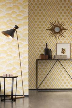 The Architects Paper Silk wallpaper collection has some great yellow designs.