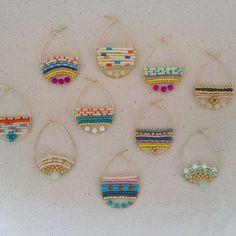 Easy Diy Idea: boucles d'oreilles avec du fils alu et des perles: