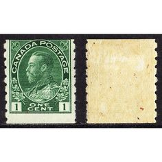 1912-24 CANADA SCOTT #125 MINT MHR OG COIL KGV ADMIRAL STAMP, PERF 8 VERT SCV$14. Buy it on eBid Canada | 151874156