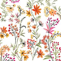 """vikkichu: """" Flowers from a project. #illustration #drawing #floral #pattern """""""