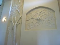 ideas for plaster tree sculpture artist portfolio Leaf Design, Wall Design, Niche Design, Drywall Mud, Plaster Art, Plaster Sculpture, Plaster Walls, Decoration Inspiration, Wall Sculptures