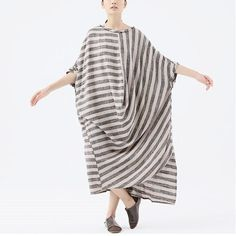Women Loose Fitting cotton linen plus size dress