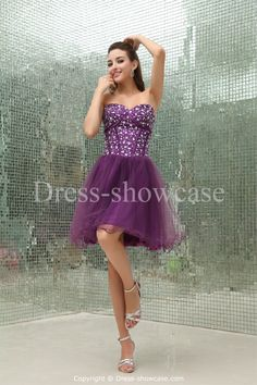 Beading  Short Silk-like Satin Sweet 16  Dress Wholesale Price: US$ 129.99