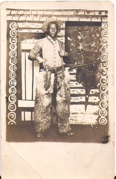 Dapper Young African American Young Man Cowboy
