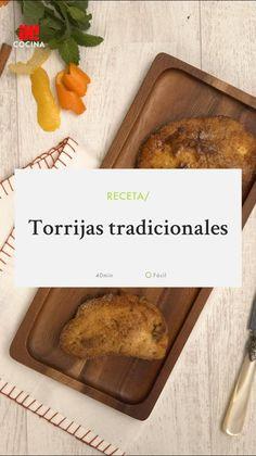 Torrijas tradicionales #recetasfaciles #recetas #dulce #recetasdulces #torrijas #desayuno #SemanaSanta Spanish Food, Bruschetta, Banana Bread, Bakery, Food Porn, Sweets, Desserts, Videos, Kitchen