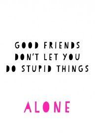 Ansichtkaart Good Friends