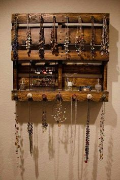 Jewelry Armoire - Hanging - Jewelry Organizer - Organization - Wall ...