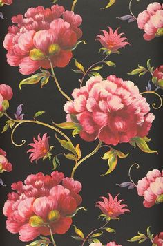 Meila | Papel de parede romântico | Padrões de papel de parede | Papel de parede dos anos 70