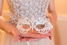 Metallic Filigree Masquerade Mask by TheCraftyChemist07 on Etsy, $28.95