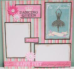 scrapebook layouts for dance | Ballet Scrapbook Layouts