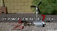 DIY Power Generator: 7 Good Ideas By Chris Black - SurvivoPedia  The ultimate goal of every respectable prepper is to get off the grid completely and live a free, happy and fulfilling life, enjoying nature and the abundance offered ...