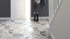 Sol vinyle Texas New Feliz, aspect carreaux de ciment - Saint Maclou