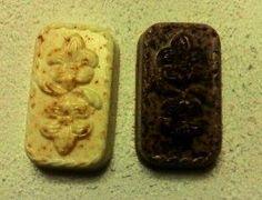 jabón de naranja y jabón de chocolate