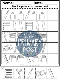 teaching patterns, kindergarten patterns, patterns worksheets Patterning Kindergarten, Teaching Patterns, Pattern Worksheet, Teaching Math, Worksheets, Student, Activities, Shop, Literacy Centers
