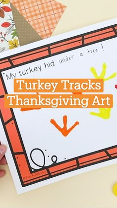 Art Activities For Kids, Toddler Activities, Preschool Activities, Thanksgiving Art, Thanksgiving Preschool, Fall Crafts, Kids Crafts, Learning Websites For Kids, Turkey Tracks
