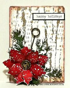 Ink-A-Pink: Merry Little Christmas! A Vintage Journey Challenge December 2020 and some Important news.... Merry Little Christmas, Vintage Christmas, Christmas Diy, Christmas Wreaths, Christmas Cards, Holiday Words, Poinsettia Cards, Christmas Scenes, Winter Cards