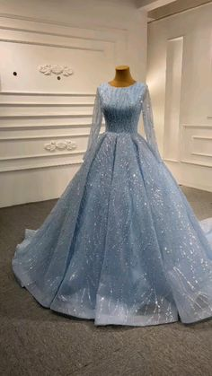 Hijab Prom Dress, Prom Dresses, Formal Dresses For Women, Formal Gowns, Blue Wedding Gowns, Maxi Gowns, Quinceanera Dresses, All Fashion, Pretty Dresses