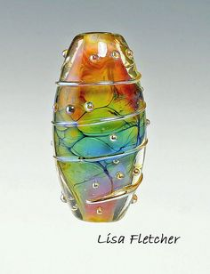 Happy Dance Glass Bead by lisafletcher on Etsy