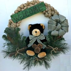 Winter Wreath Cabin Decor All Season by CountryCraftsnflower