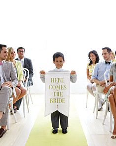 """""""Here Comes the Bride"""" Banner"""