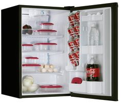 Danby Foot Designer Compact All Refrigerator, Black The Danby Cu. Designer Compact All Refrigerator, in black, has a scratch Refrigerator Without Freezer, Compact Refrigerator, Home Appliances Sale, Frigidaire, Appliance Sale, Cubic Foot, Drink Dispenser, Door Hinges, Single Doors