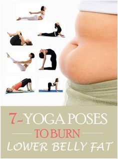 Top 7 Yoga Poses To Burn Lower Belly Fat #yoga #weightloss