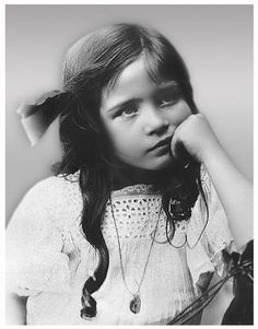 Simone De Beauvoir as a child in the early 1900's