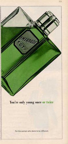 Coty Emeraude Parfum Perfume Bottle (1964)
