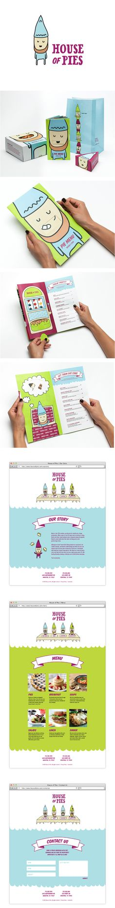 This little PPOTD #packaging cutie hasn't been pinned in a while House of Pies Rebrand by Gabby Nguyen, via Behance PD