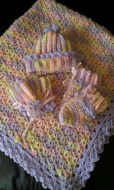 Janet Marie's Crochet and Knit Projects and Free Patterns: FREE CROCHET PATTERN - Baby Blanket with Picot Shell Border: