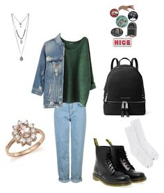 """""""Winter"""" by indiebitch on Polyvore featuring Mode, Topshop, R13, Dr. Martens, Hanes, MICHAEL Michael Kors und Bloomingdale's"""