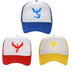 ebc3cbc2f5e Cosplay Mobile game Pokemon Go Team Valor Team Mystic Team Instinct snapback  baseball Cap hat