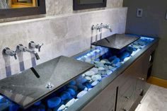 Beautiful sinks...would look great sub-sunk into counter!