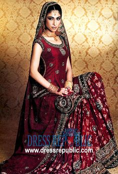 Ruby Wine Nimbus, Product code: DR1351, by www.dressrepublic.com - Keywords: Hassan Shehryar Yasin, HSY Fashion Designer, HSY Fashion Shows