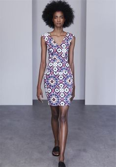 Electric Blue Mosaic Dress by French Connection Blue Mosaic, Electric Blue, French Connection, Afro, Waterford Ireland, Print Design, Anthropologie, Bodycon Dress, Boutique
