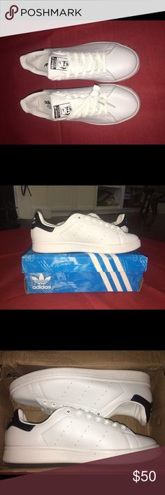"""Custom """"Stan Smith"""" Adidas Sneakers Size 8.5 men's or 10.5 women's. Brand new shoes (even though the box is damaged). adidas Shoes Sneakers"""