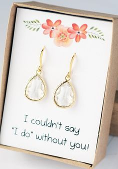 Bridesmaid Jewelry US SHIPS Bridesmaid Gifts Bridal by LimonBijoux