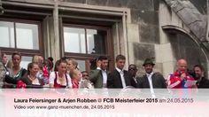 Laura Feiersinger & Arjen Robben @ FCB Meisterfeier 2015 am 24.05.2015