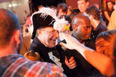 Stephen Colbert gets up close and personal with the crowd at StePhest Colbchella '012.