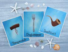 Die kleine Meerjungfrau-Kunstdrucke / von BlueDogwoodBoutique