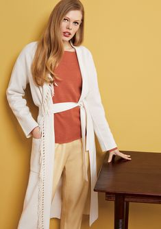 efficiency, and productivity are important. So are and Specializing in in the segment Cashmere stands for and articles as well as for a strong sense of with respect to correct conditions Cashmere Cardigan, Long Cardigan, Karl Lagerfeld, Vogue, Fashion Outfits, Womens Fashion, Duster Coat, Pure Products, Fringes