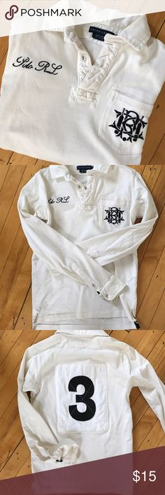 Polo Rugby Shirt, Rugby Shirts, Boys Shirts, Lauren White, Blackpink Fashion, Long Sleeve Polo, Ralph Lauren Tops, Sport Casual, Navy And White