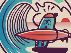 Surf's Up  by MUTI #Design Popular #Dribbble #shots