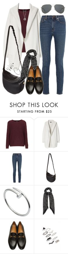 """""""Untitled #1682"""" by briarachele on Polyvore featuring Topshop, Theory, Yves Saint Laurent, Mulberry, Cartier, Elsa Peretti and Gucci"""