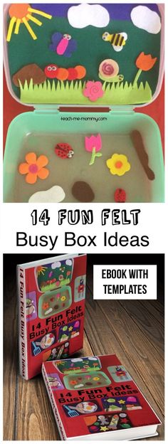 14 Fun Felt Busy Box Ideas Ebook with templates!