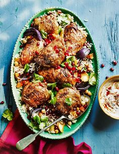 Middle Eastern Persian Chicken with Harissa Middle Eastern Dishes, Middle Eastern Recipes, Persian Chicken, Iranian Food, Iranian Cuisine, Eastern Cuisine, Cooking Recipes, Healthy Recipes, Cooking Tips