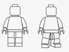 Simple black and white clipart LEGO Minifigures outline silhouette coloring book worksheet for kids People Coloring Pages, Lego Coloring Pages, Coloring Books, Kids Coloring, Coloring Sheets, Lego Bulletin Board, Free Lego, Lego People, Lego Man